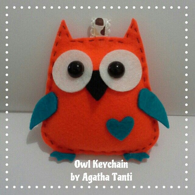 #ODOPDay21 Tema : free style 《 Owl Keychain from flanel 》