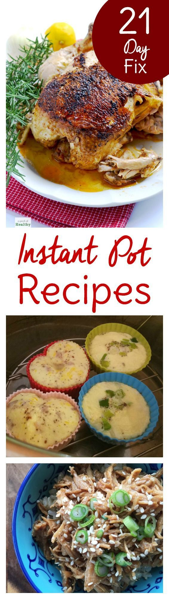 Starting a clean eating plan? These 21 Day Fix Instant Pot recipes will help you stay on track with your 21 Day Fix diet. Set yourself up for success with easy dinners. Preparation and making things as convenient as possible is the key to sticking with any new meal plan or diet. Let your pressure cooker take some of the work out of the equation and you've got that much more time to complete your Beach Body workouts!