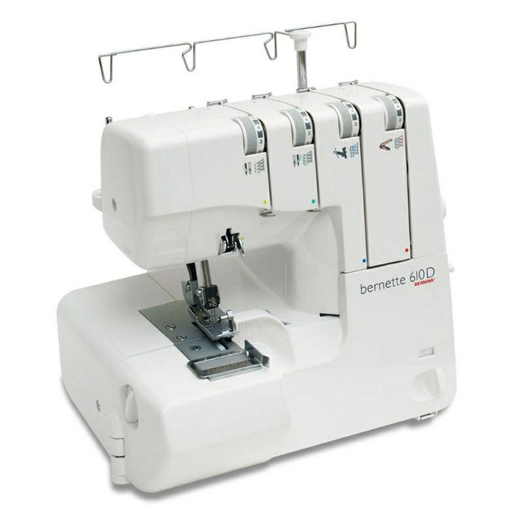The Bernette 610D is a very Reliable 3 & 4 Cone with Built in Roll Hem and Flat Lock, Differential feed, Adjustable Stitch Width and Length. This machine is also very easy to thread because of the accessibility to the loopers.