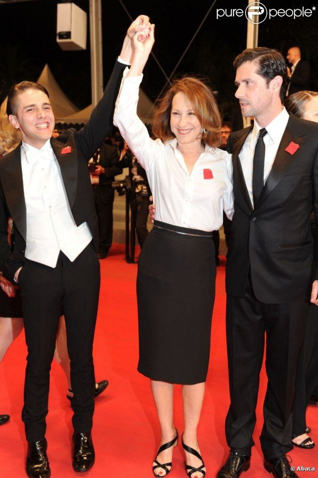 Nathalie Baye and Melvil Poupaud presented Laurence Anyways directed by Xavier Dolan