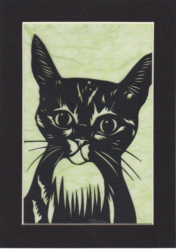 Original Cat Paper Cut Out