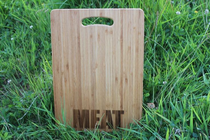 """""""Fish, Meat, Bread, Veggies"""" (in BOLD TEXT) Personalised Chopping Boards Set"""