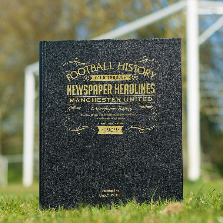 This Personalised Man United History Book is the perfect gift for any fan of the club. The book kicks off with the earliest newspaper reports, covering their most memorable games and star players, leading right up until last season. See below for why the History of Man United FC Book is the ultimate piece of memorabilia that will instantly become a treasured keepsake.