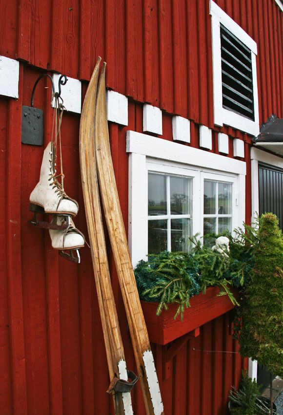 Scandinavian Christmas time - I love cross-country skiing. I hope to go again this winter!