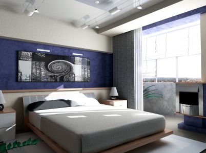 black white and royal blue bedroomjpg 402