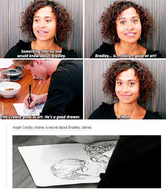 Bradley is very good at art
