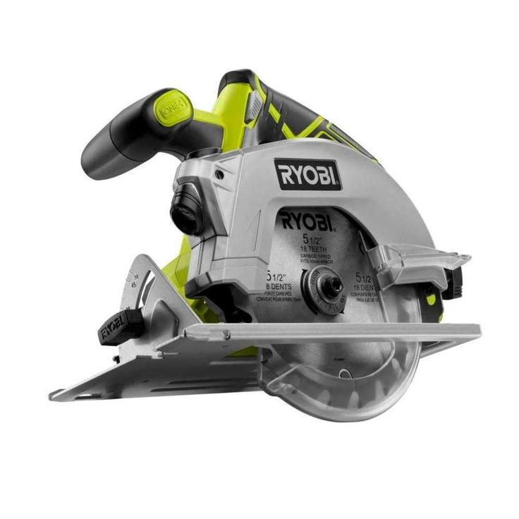 "Ryobi 18-volt One Plus 5-1/2 In. Cordless Circular Saw with Laser (Tool Only). Ryobi 18-Volt Cordless Circular Saw with Laser 5-1/2"" [Tool Only]."