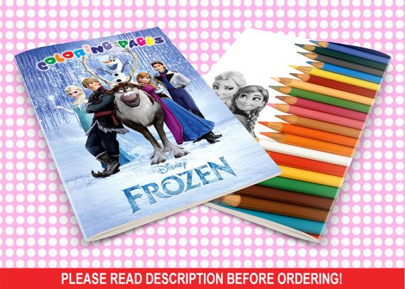 Coloring Book Frozen Download : 366 best frozen birthday ideas images on pinterest