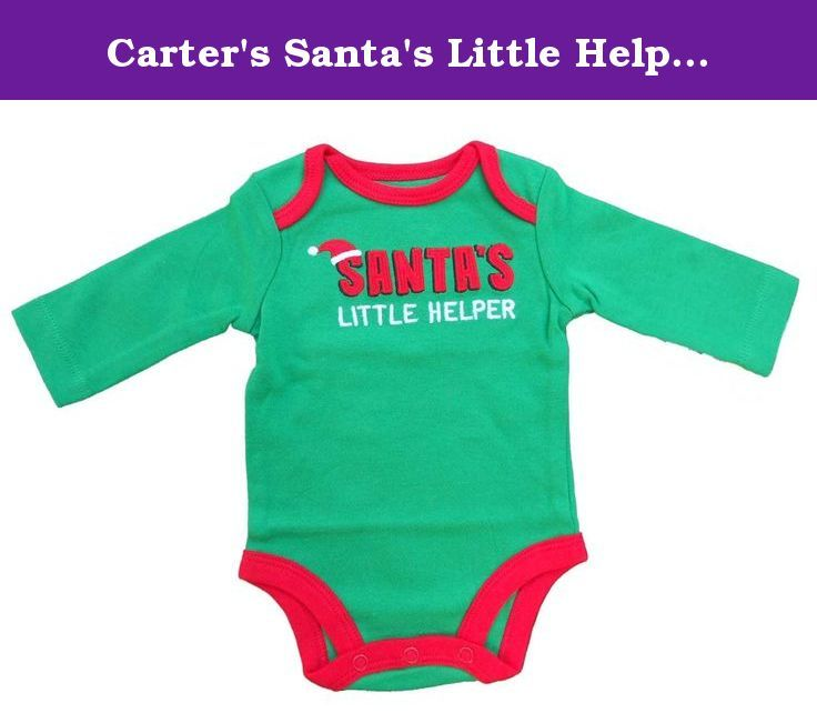 Carter's Santa's Little Helper Baby Bodysuit (NB). Get your little one ready for the holiday season with this cute and comfy Carter's Santa's Little Helper Baby Bodysuit.