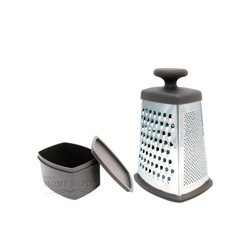 Large, medium, and small graters plus a slicer make this piece perfect for every job.
