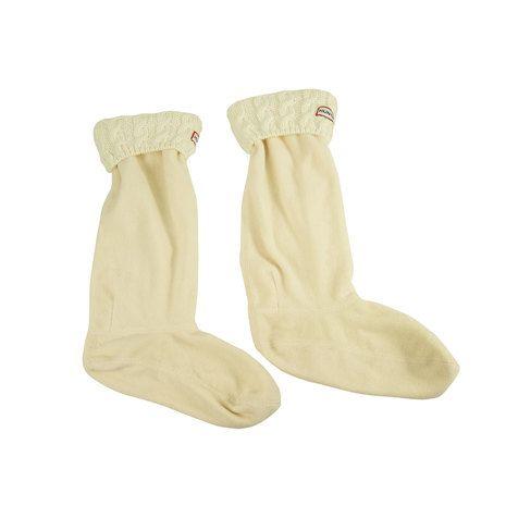 HUNTER Unisex Original Garter-Stitch Cuff Boot Socks EU 39-42 US (F) 8-10 (M 7-9