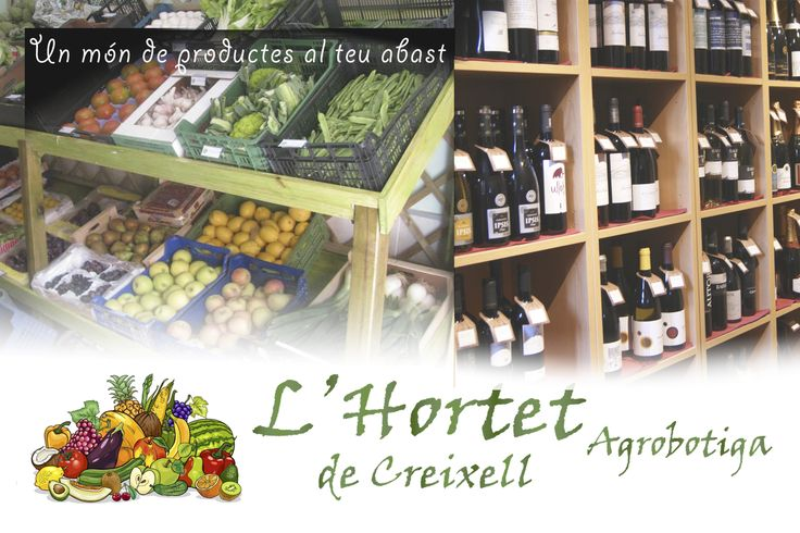 Hortet de Creixell  -Natural Food and drinks store- Flyer by CCCP Barcelona.