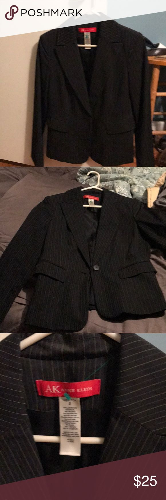 Anne Klein size 8 women's business jacket No idea where this came from but ive never worn it once. It's cute my work just isn't this business dress code wise. Time to detach! Anne Klein Jackets & Coats Blazers