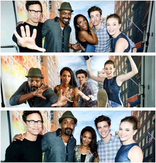 Grant Gustin, Jesse L. Martin, Danielle Panabaker, Candice Patton & Tom Cavanagh #TheFlash #SDCC