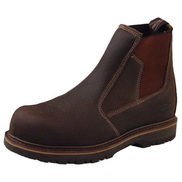 Grubs Leather Fury Safety Dealer Boot In Dark Brown is durable and versatile and will not disappoint.