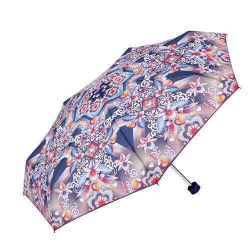 Catalina Estrada Umbrella with purpley Orchids and birds. Le'ts beg for some rain!
