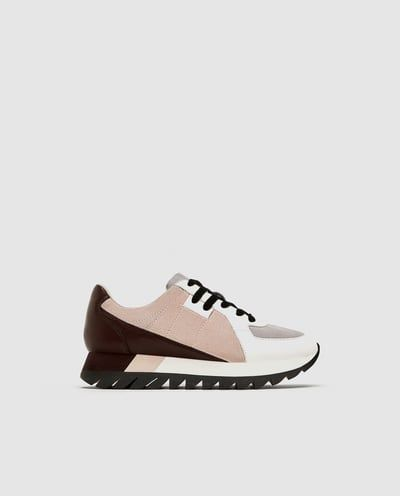 Contrasting Chunky Sole Sneakers Sneakers Shoes Woman Zara United