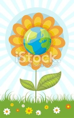 eco flower Royalty Free Stock Vector Art Illustration