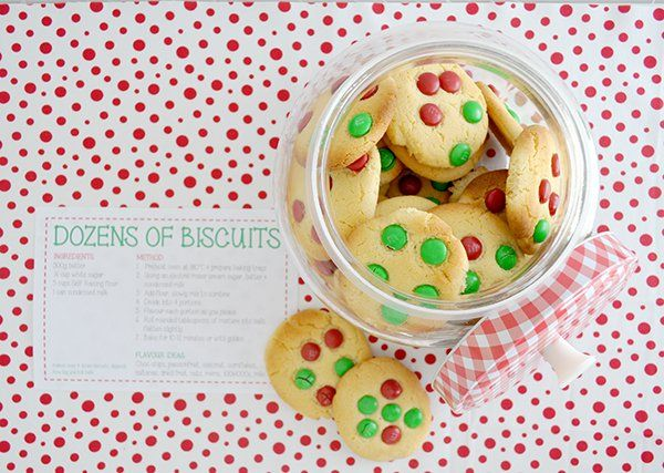 Christmas gift idea, make a batch of cookies and give them the recipe.