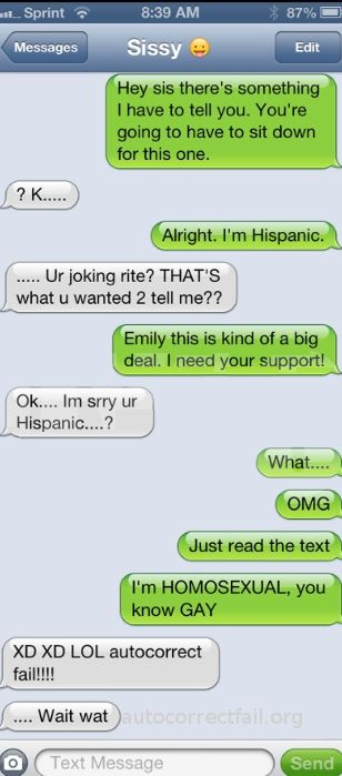 Autocorrect Fail | Hilarious Auto Correct blunders and funny texts and messages from your mobile phone!