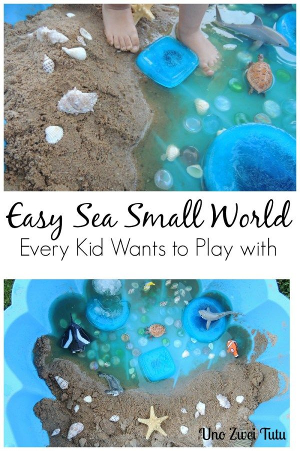 sea sensory bin for toddlers and preschoolers