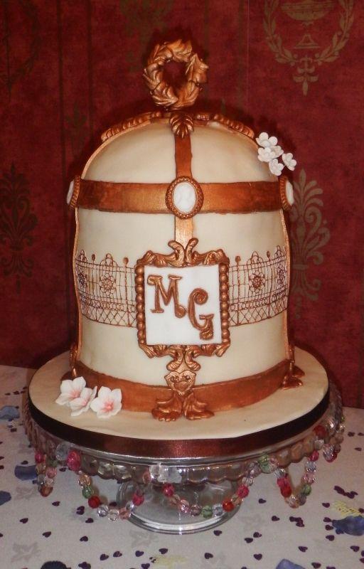 Victorian Birdcage Theme Cake