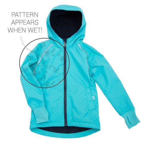 Buy Waterproof Kids' Magic Print Wet-weather Jacket - Girls Aqua