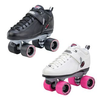 Sure-Grip Boxer   Sure-Grip's Boxer has been making the rounds at roller rinks for years.  Boots: Sure-Grip's synthetic boots offer comfort padding and a power strap. http://shop.rollwithitct.com/Sure-Grip-Boxer-SESSGB.htm