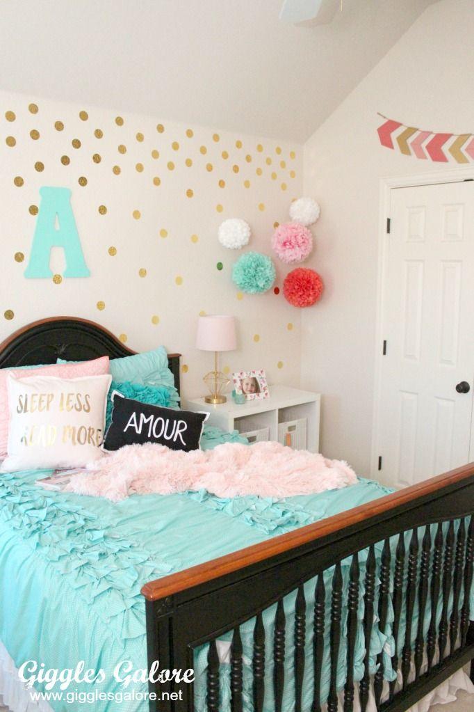 Tween girls bedroom makeover decoracion infantil - Decoracion de interiores infantil ...