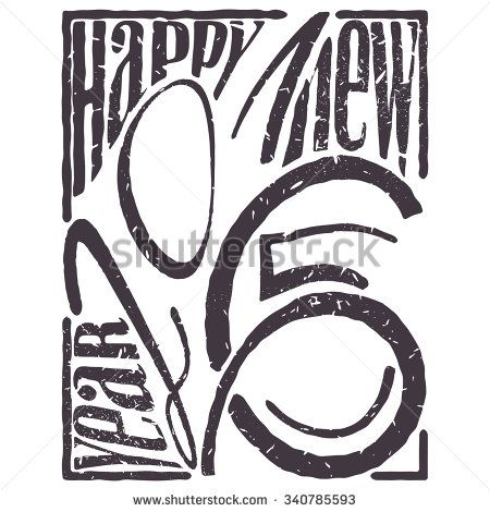 New Year of 2016 contains 2015 and wishes - stock vector