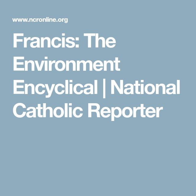 Francis: The Environment Encyclical | National Catholic Reporter