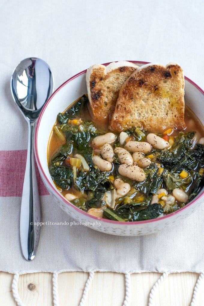 Zuppa bieta, cavolo nero e cannellini (ricetta di @paneburro ) - by Appetitosando