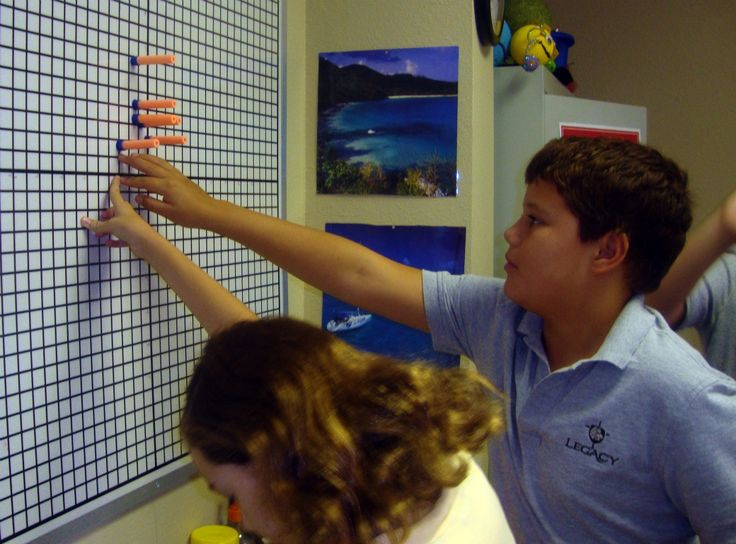 Coordinate Graphing (With Nerf Guns!)  Students shoot a foam bullet at the board and then write down the coordinates.  Have students write down coordinates ahead of time and see who gets hit.