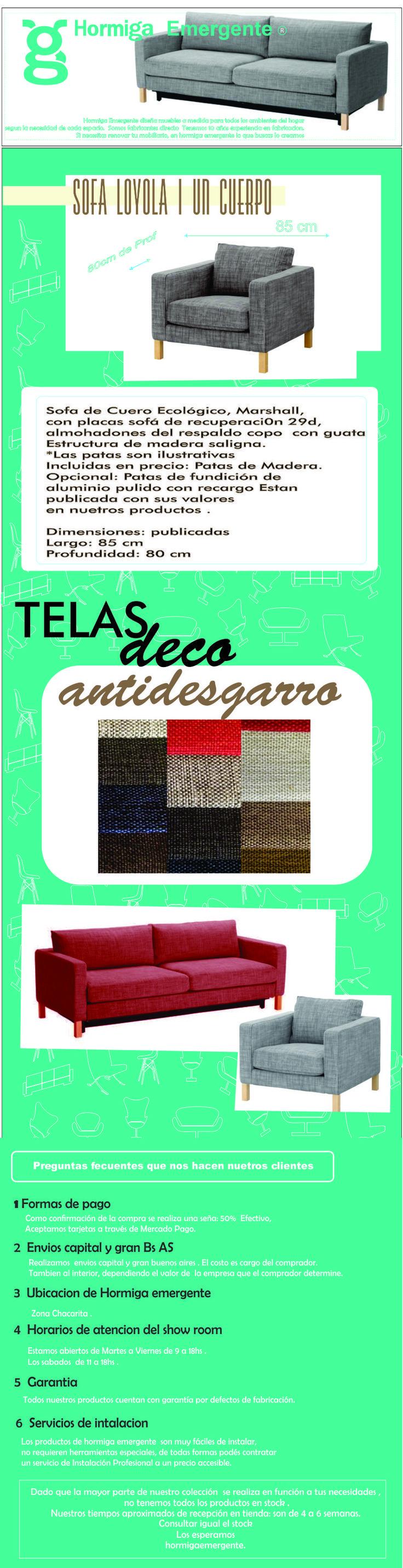 Sillón 1 Cuerpos Tela Antidegarro Placa +2 Almohadones - $ 9.999,99