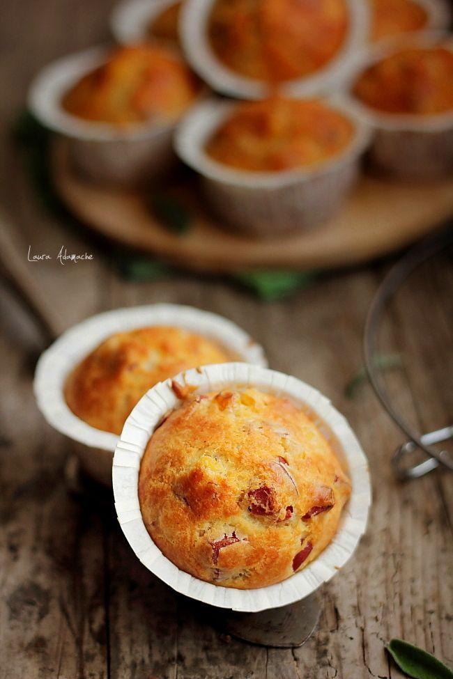 Muffins cu porumb Sun Food. Reteta muffins cu porumb. Reteta cu porumb si prosciutto cotto. Preparare si ingrediente muffins cu porumb.