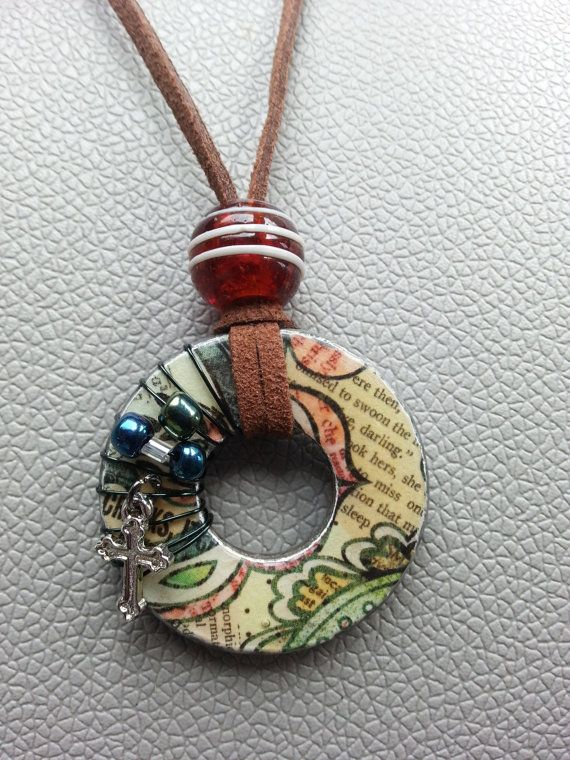 Handmade necklaces made from metal washers. Washers come in many different sizes from small, medium, large, and x-large. Necklaces also come