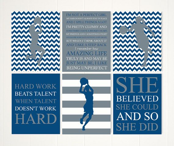 Gift for girl basketball girl wall art by PicabooArtStudio on Etsy
