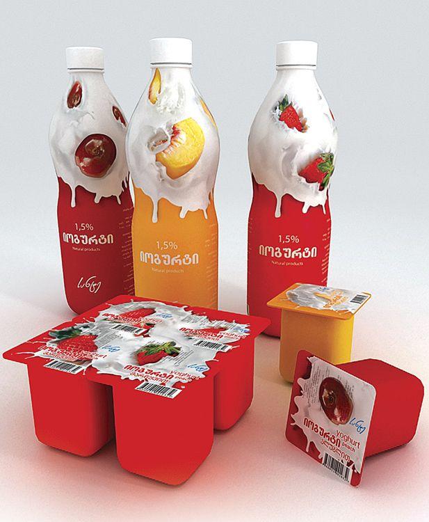 SANTE yoghurts by VanSage | deviantART #packaging #dairy