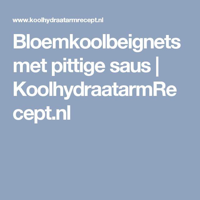 Bloemkoolbeignets met pittige saus | KoolhydraatarmRecept.nl