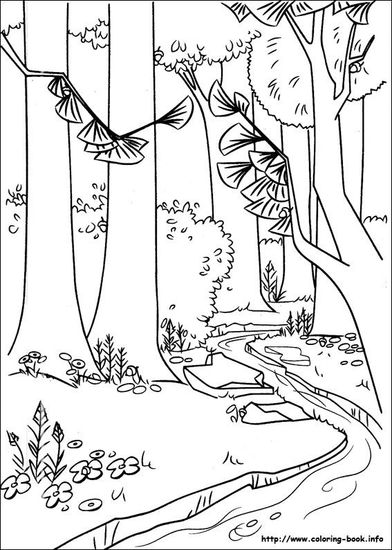 A River In The Forest Coloring Page From Open Season Category Select 25310 Printable Crafts Of Cartoons Nature Animals Bible And Many More