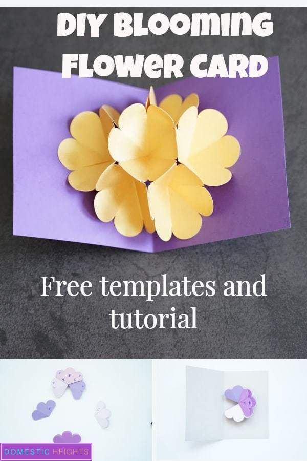Cricut Pop Up Flower Bouquet Domestic Heights In 2020 Pop Up Card Templates Diy Pop Up Cards Pop Up Flower Cards