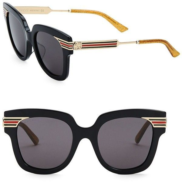 96fd57e8529 Gucci 51MM Square Sunglasses ( 485) ❤ liked on Polyvore featuring  accessories