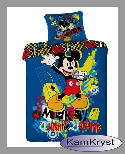Pościel z Myszka Miki 160x200 producent Faro - pościel dziecięca bawełniana #mickey #mickey_mouse #mickey_mouse_bedding