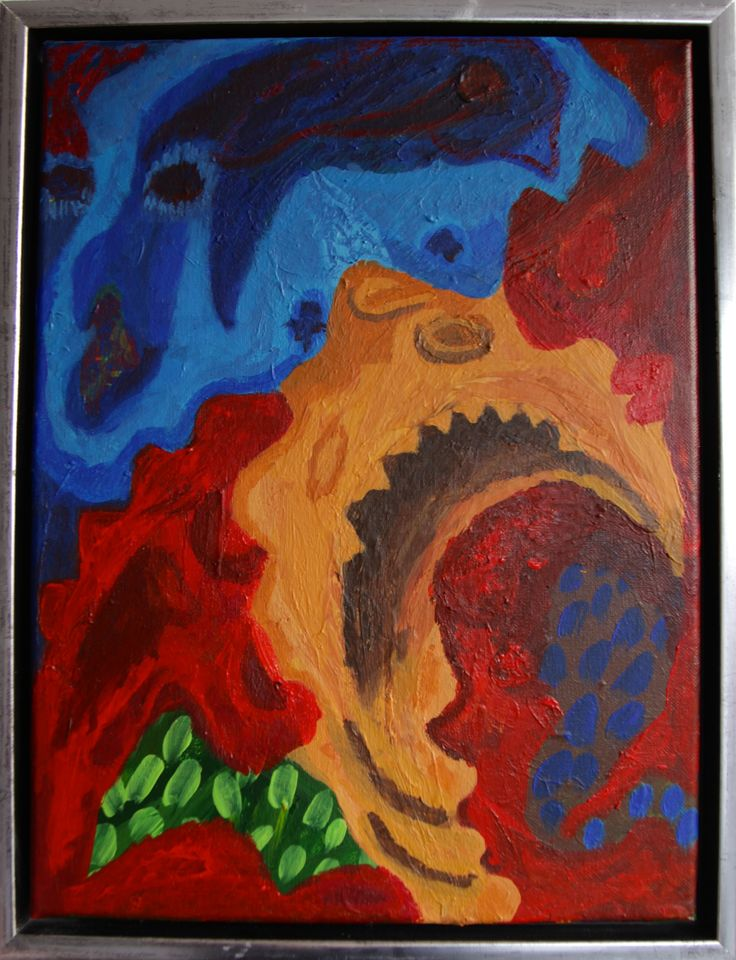 """Miss Ebola Attack I"", 40 x 30 cm acrylic on canvas."