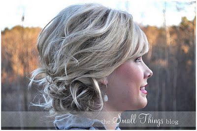 short hair can look good up!Hair Ideas, Small Things, Hair Tutorials, Bridesmaid Hair, Shorts Hair, Medium Length Hair, Hair Style, Side Buns, Things Blog