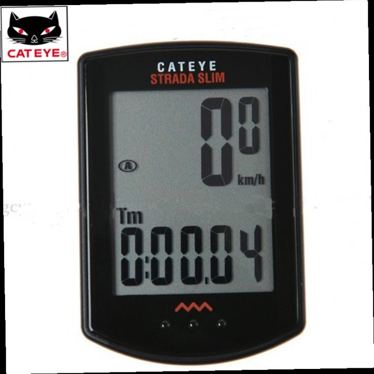 48.29$  Buy now - http://aliyn7.worldwells.pw/go.php?t=1941229920 - CATEYE Cycling Bike Bicycle STRADA Wireless Digital Computer Speedometer Black/Red 2 Colors 48.29$