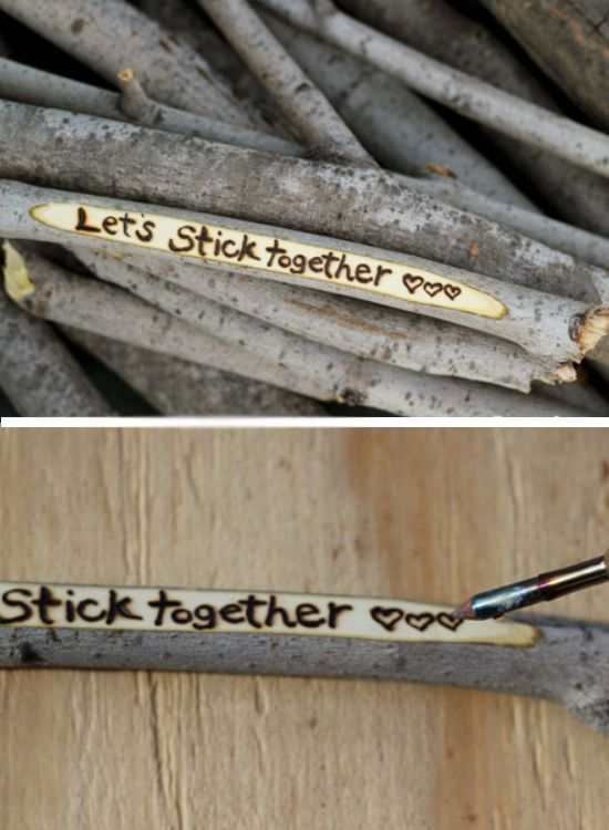 Love Stick Message | Click Pic for 44 DIY Valentine Gifts for Him | DIY Valentine Gifts for Boyfriend