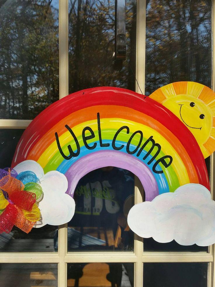 Classroom Welcome Decor ~ Best images about door hangers on pinterest wood