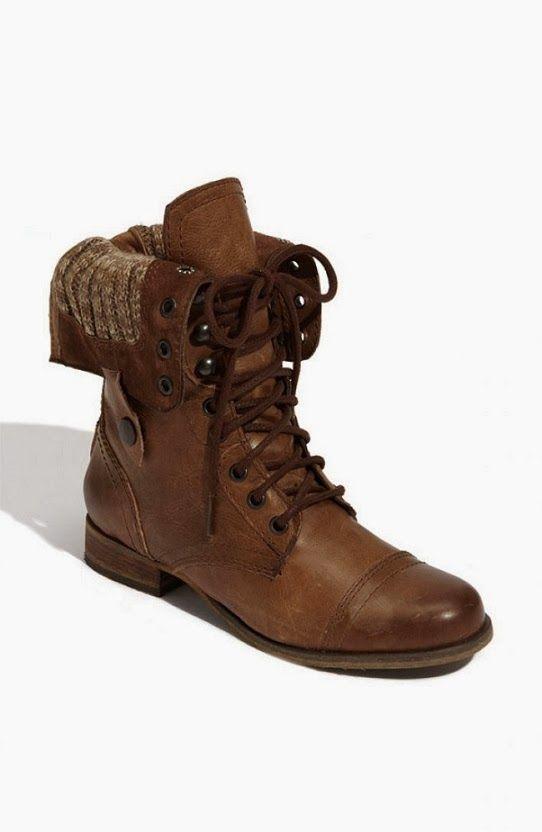 Brown Leather Lace Up Boots Todavia dudo si me gustan o no este tipo de botas... tendria que vermelas puestas