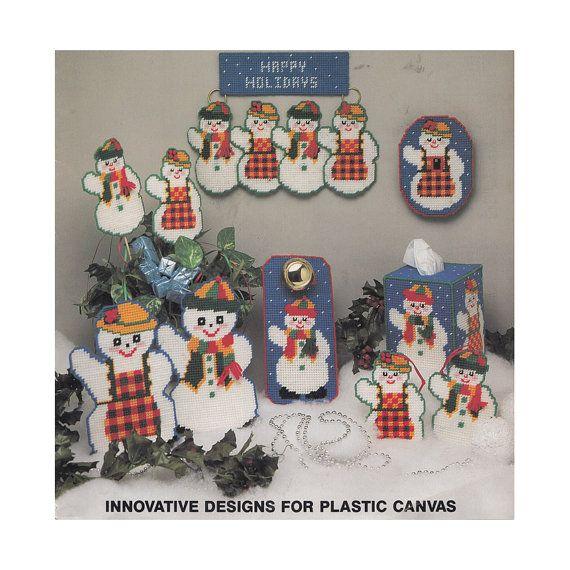 Leaflet 132 Plastic Canvas besneeuwde mensen van Redcurlzs op Etsy